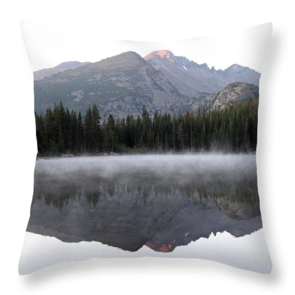 Bear Lake Throw Pillow by David Yunker