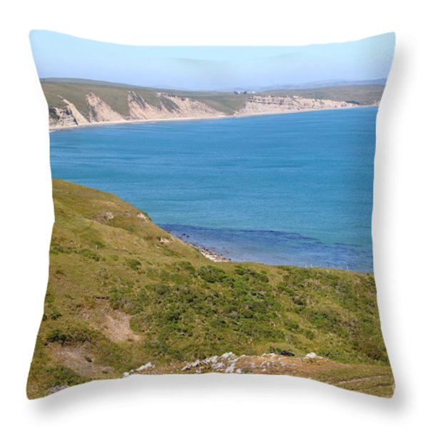 Beautiful Coastline of Point Reyes California . 7D16050 Throw Pillow by Wingsdomain Art and Photography