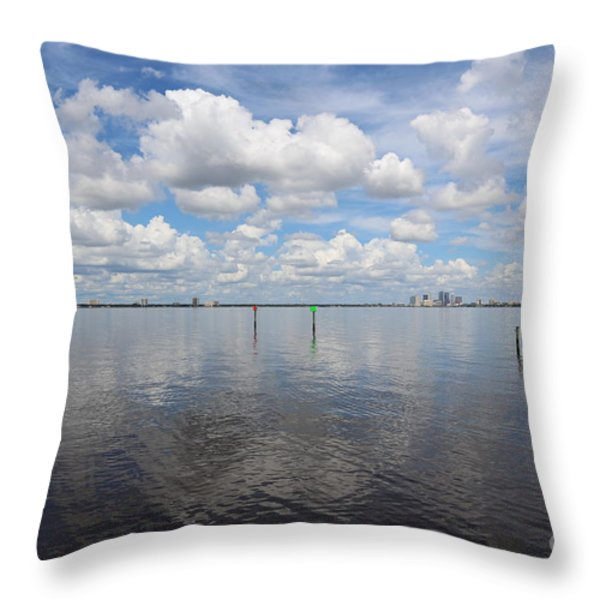 Beautiful Day In Tampa Throw Pillow by Carol Groenen