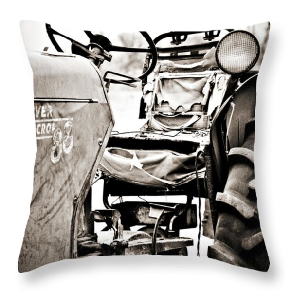 Beautiful Oliver Row Crop old tractor Throw Pillow by Marilyn Hunt