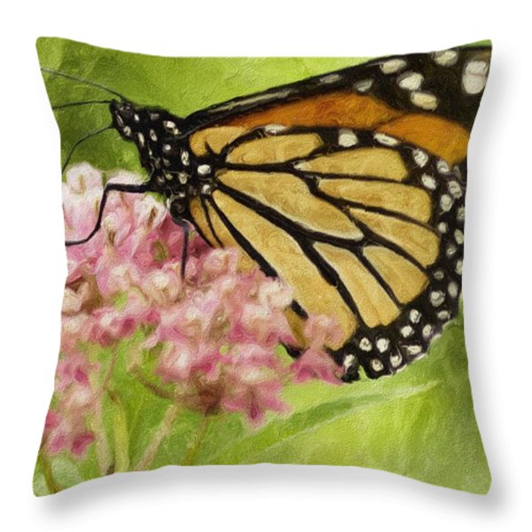 Beauty Of Nature Throw Pillow by Jack Zulli