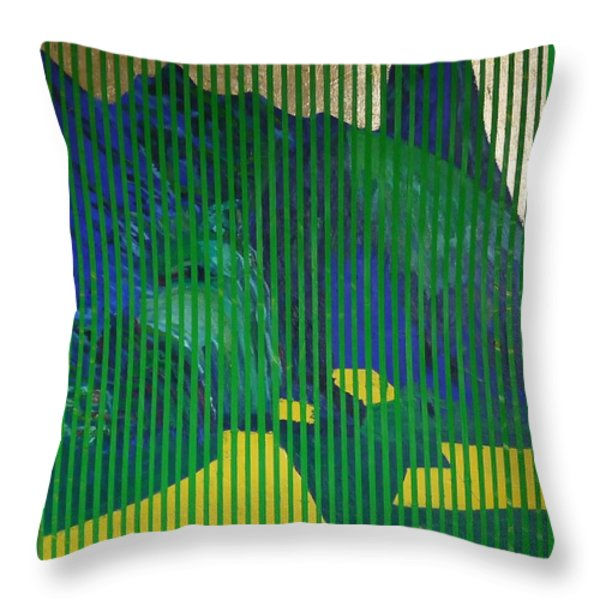 Behind The Blinds Throw Pillow by Jarle Rosseland