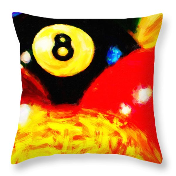 Behind The Eight Ball - Vertical Cut Throw Pillow by Wingsdomain Art and Photography