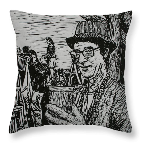 Behind the Parade Throw Pillow by William Cauthern
