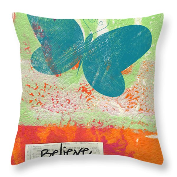 Believe In Yourself Throw Pillow by Linda Woods
