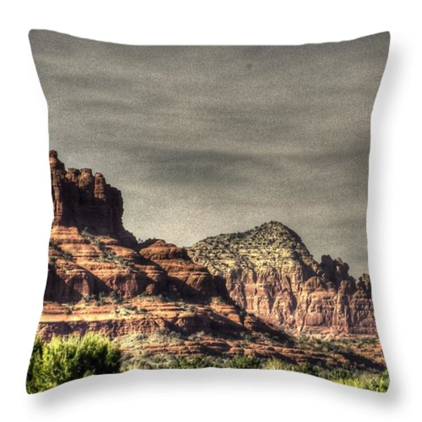 Bell Rock - Sedona Throw Pillow by Dan Stone
