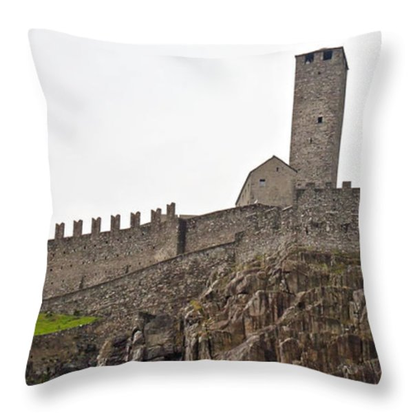 Bellinzona - Ticino Throw Pillow by Joana Kruse