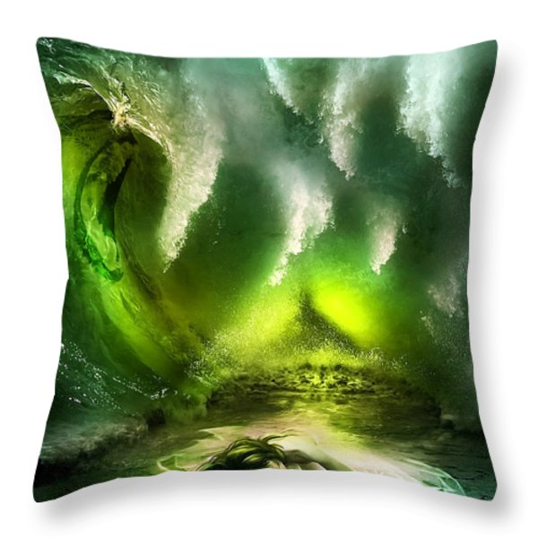 Beneath Throw Pillow by Svetlana Sewell