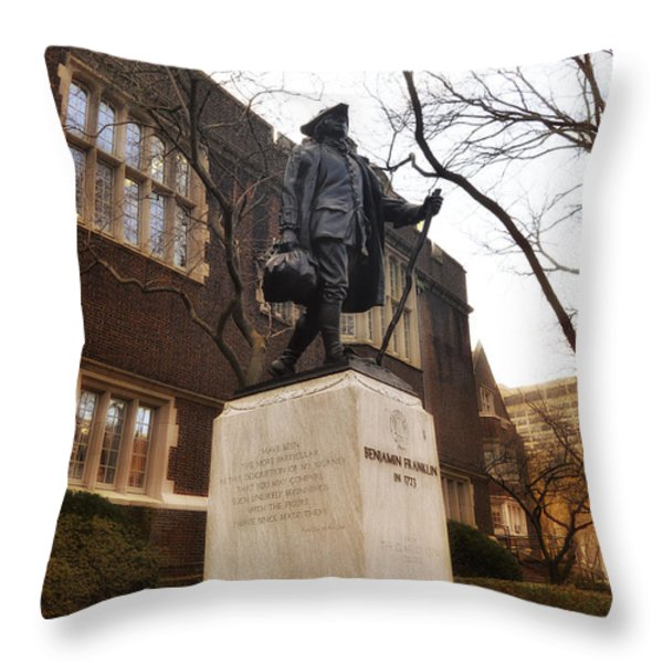 Benjamin Franklin  Throw Pillow by Bill Cannon