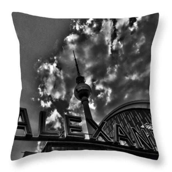 Berlin Alexanderplatz Throw Pillow by Juergen Weiss