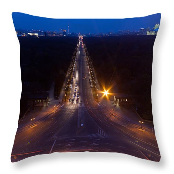 Berlin from the Siegessaule  Throw Pillow by Mike Reid
