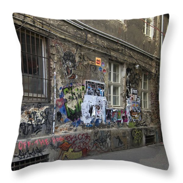 Berlin Graffiti - 1 Throw Pillow by RicardMN Photography