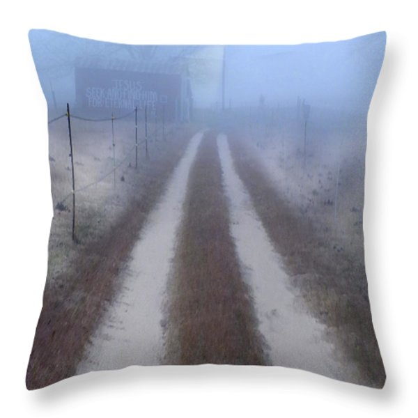 Better Find Jesus Throw Pillow by Mike McGlothlen