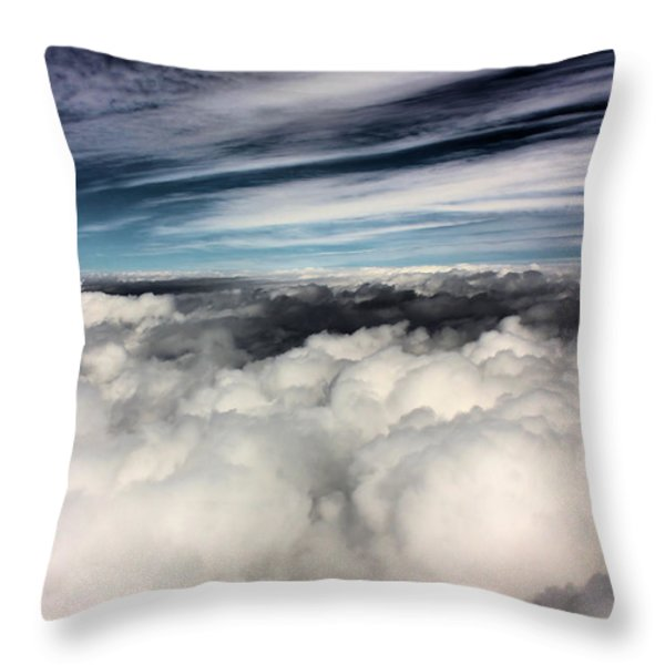 Between Heaven And A Soft Place Throw Pillow by Kristin Elmquist