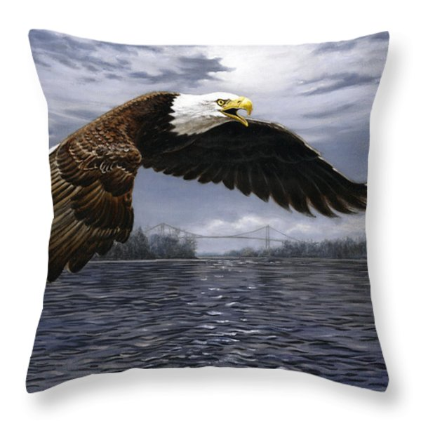 Between Nations Throw Pillow by Richard De Wolfe