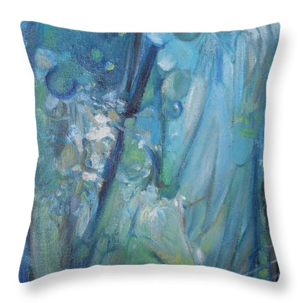 Between Worlds Throw Pillow by CD Good