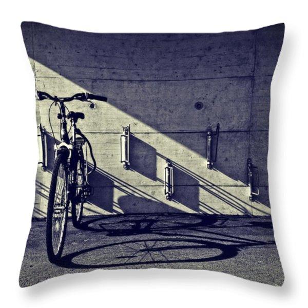bicycle Throw Pillow by Joana Kruse