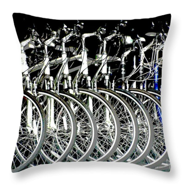Bicycle Visions Throw Pillow by Anahi DeCanio