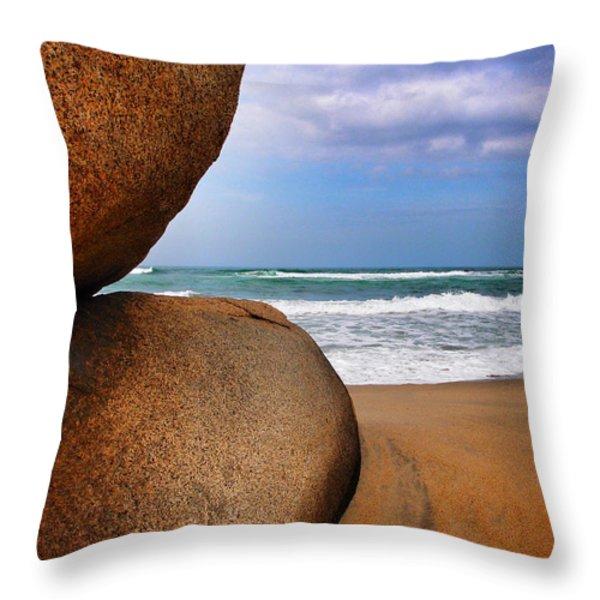 Bienvendio Throw Pillow by Skip Hunt