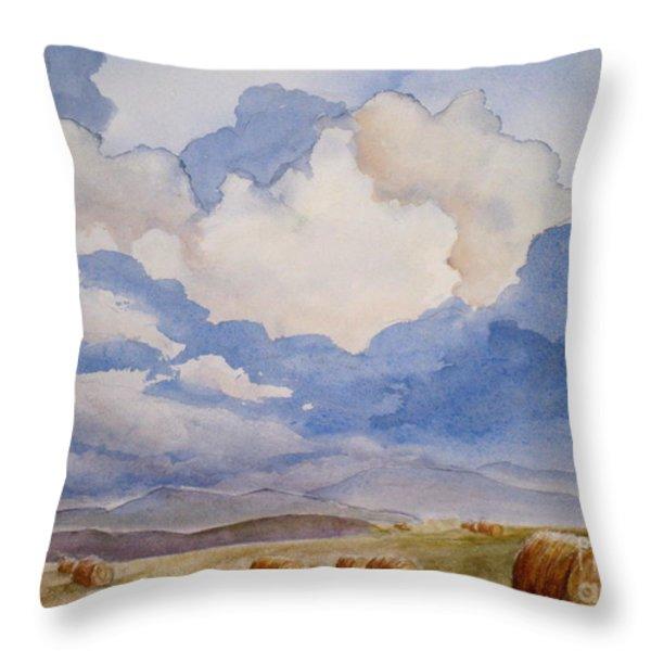 Big Alberta Sky Throw Pillow by Mohamed Hirji