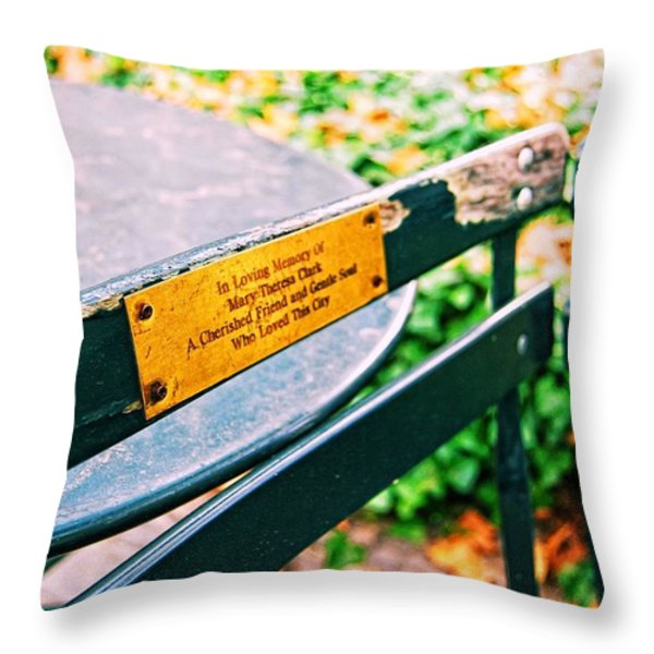 BIG APPLE LOVE Throw Pillow by JAMART Photography