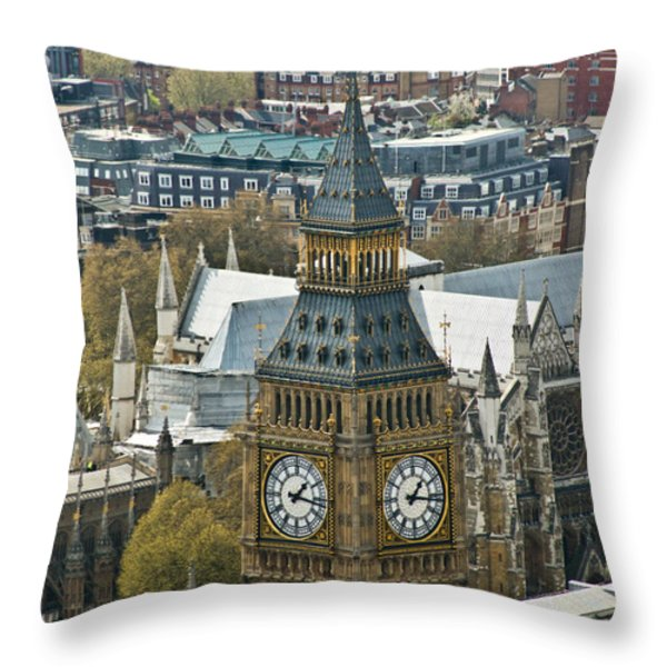 Big Ben Up Close And Personal Throw Pillow by Douglas Barnett