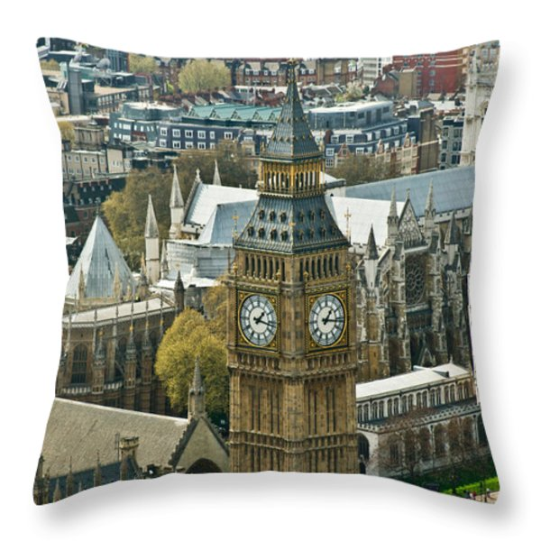 Big Ben Up Close Throw Pillow by Douglas Barnett