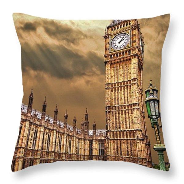 big ben's house Throw Pillow by Meirion Matthias