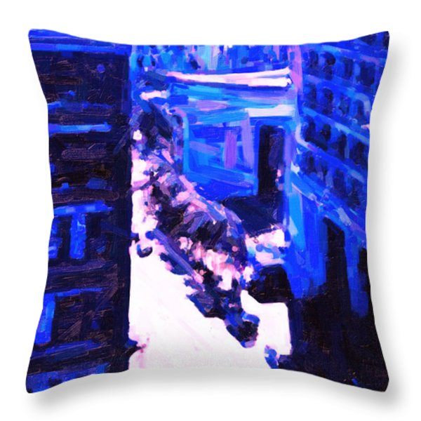Big City Blues 2 Throw Pillow by Wingsdomain Art and Photography