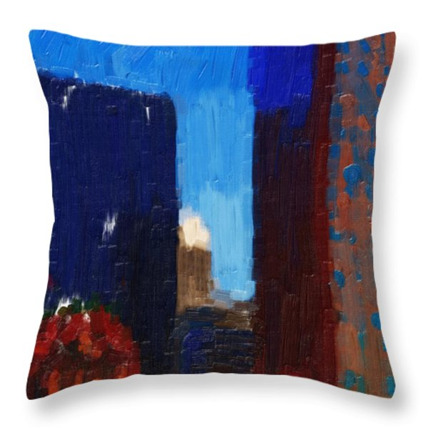 Big City Throw Pillow by Wingsdomain Art and Photography