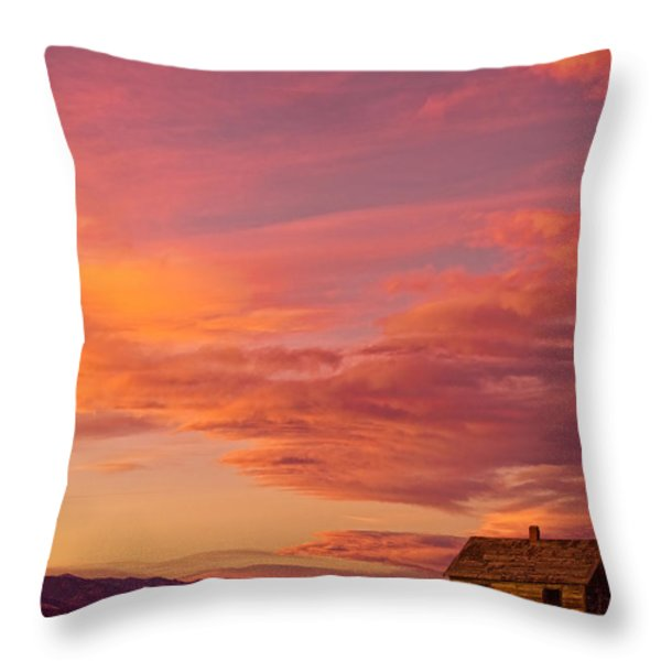 Big Colorful Colorado Sky And Little House On The Prairie Throw Pillow by James BO  Insogna