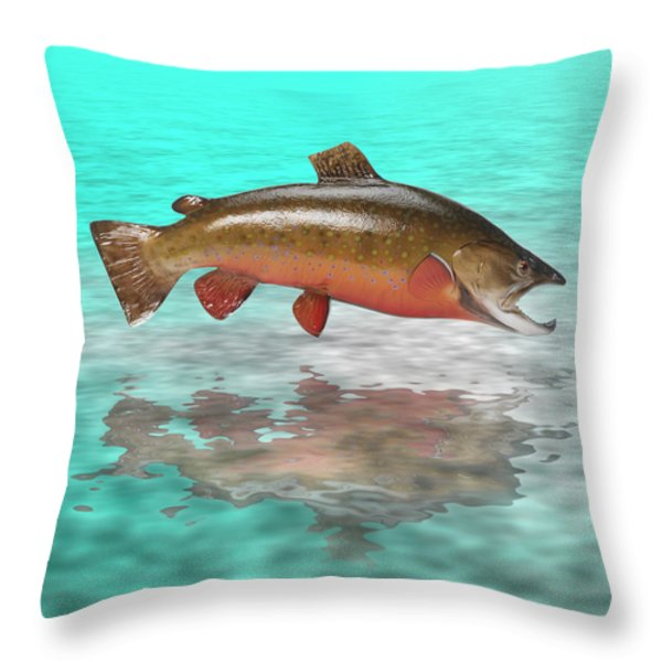 Big Fish Throw Pillow by Jerry McElroy