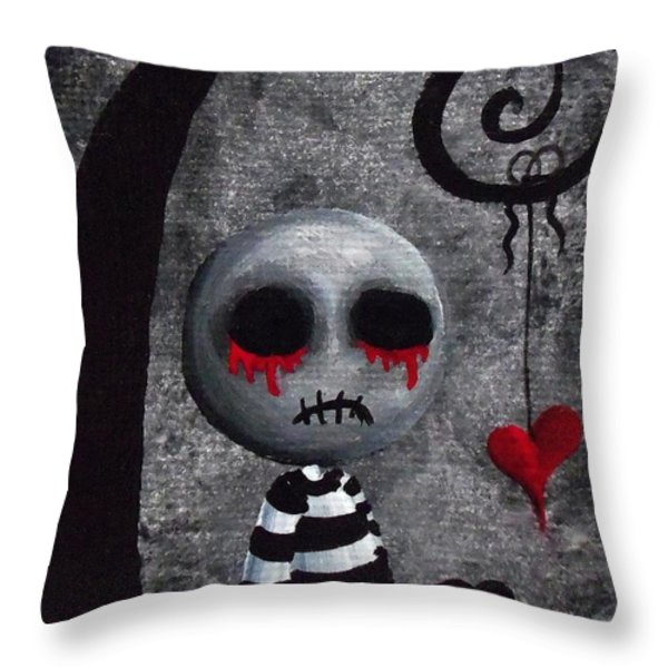 Big Juicy Tears Of Blood And Pain 2 Throw Pillow by Oddball Art Co by Lizzy Love