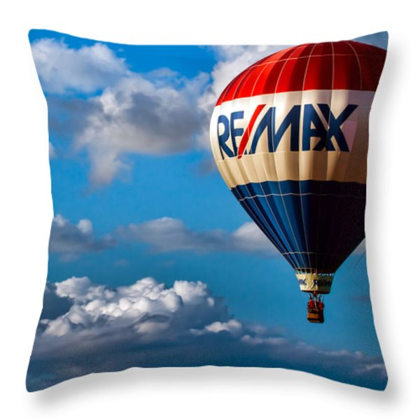 Big Max RE MAX Throw Pillow by Bob Orsillo