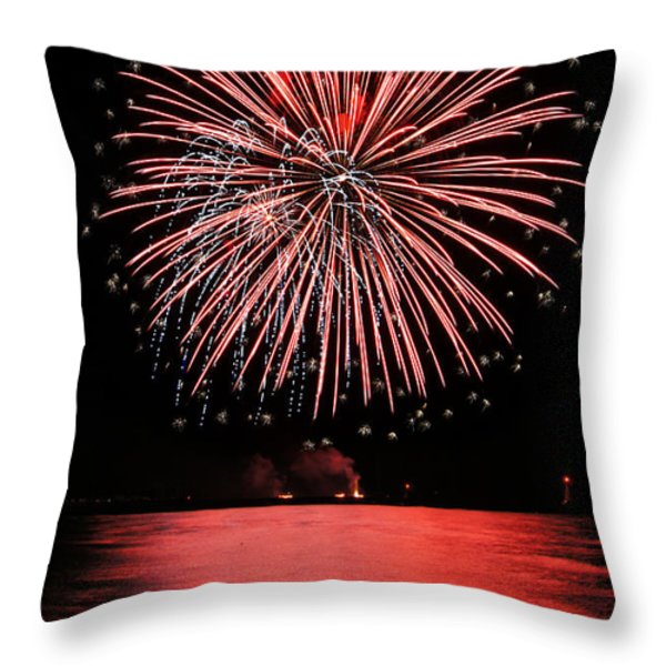 Big Red Throw Pillow by Bill Pevlor
