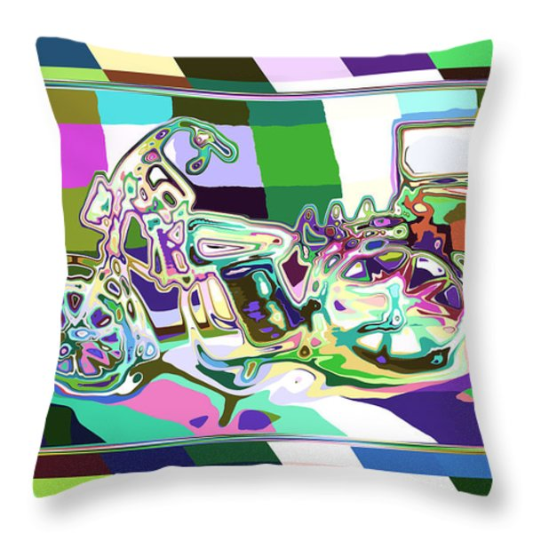 Bike-2b Throw Pillow by Mauro Celotti