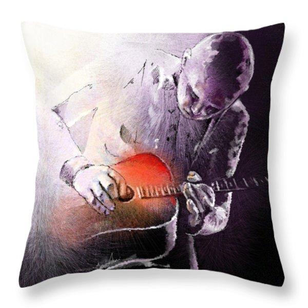 Billy Corgan Throw Pillow by Miki De Goodaboom