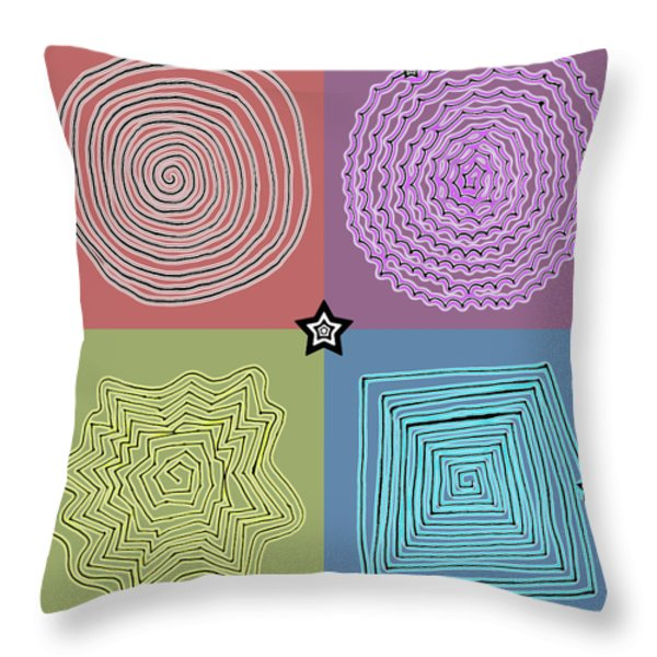 Birth Of A Star Throw Pillow by Sumit Mehndiratta