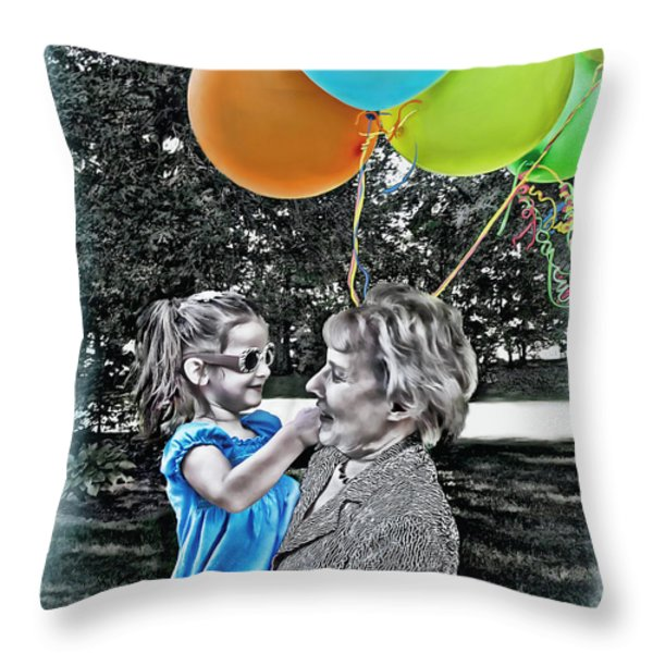 Birthdays Throw Pillow by Joan  Minchak
