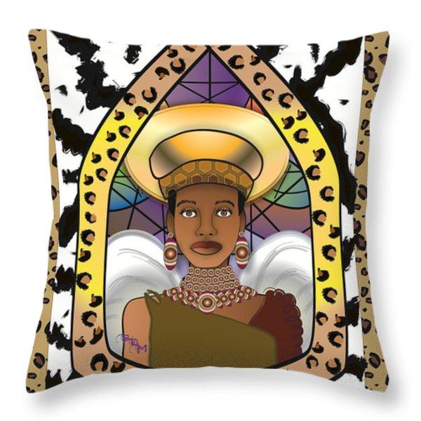 BLACK ANGEL Throw Pillow by BRENDA DULAN MOORE