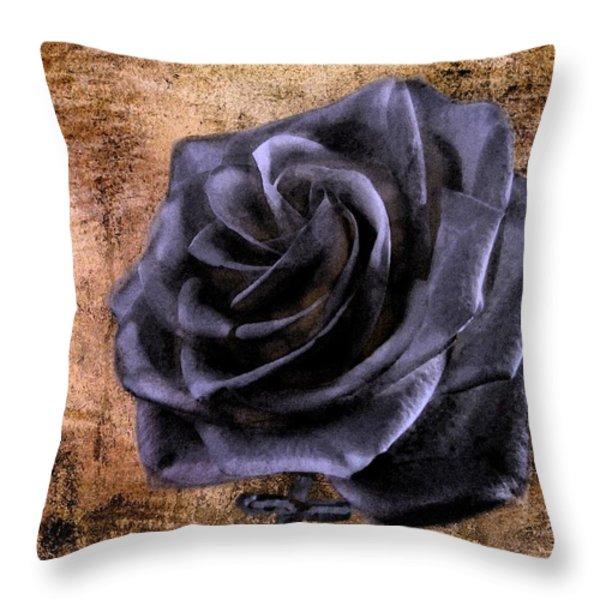 Black Rose Eternal   Throw Pillow by David Dehner