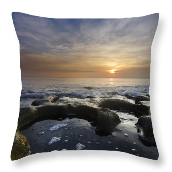 Black Sea Throw Pillow by Debra and Dave Vanderlaan