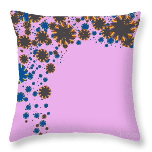 blades on purple Throw Pillow by ATIKETTA SANGASAENG