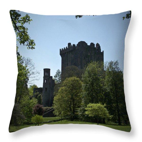 Blarney Castle Ireland Throw Pillow by Teresa Mucha