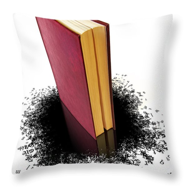 Bleading Book Throw Pillow by Carlos Caetano