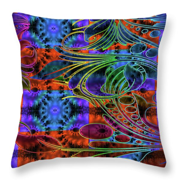 Bleeding Rainbow Throw Pillow by Clayton Bruster