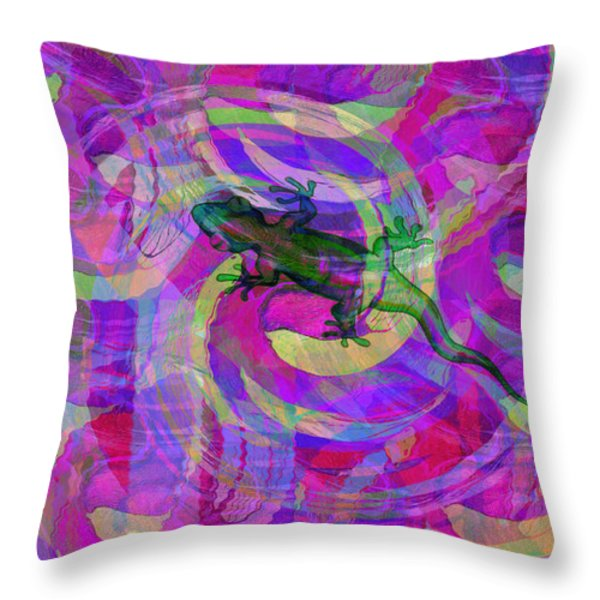 Blending In Throw Pillow by Bill Cannon