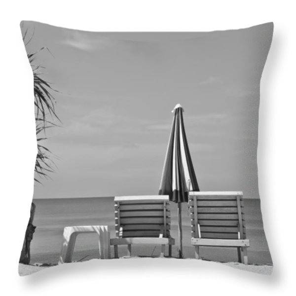 Bliss is the Beach Throw Pillow by Nomad Art And  Design