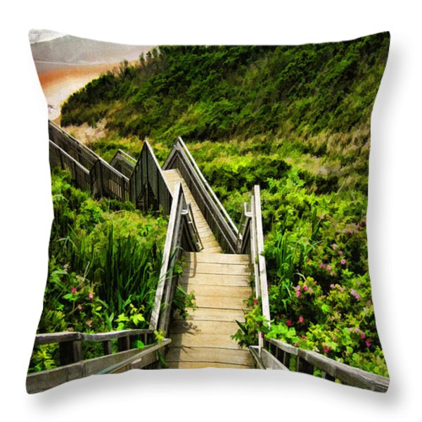 Block Island Throw Pillow by Lourry Legarde