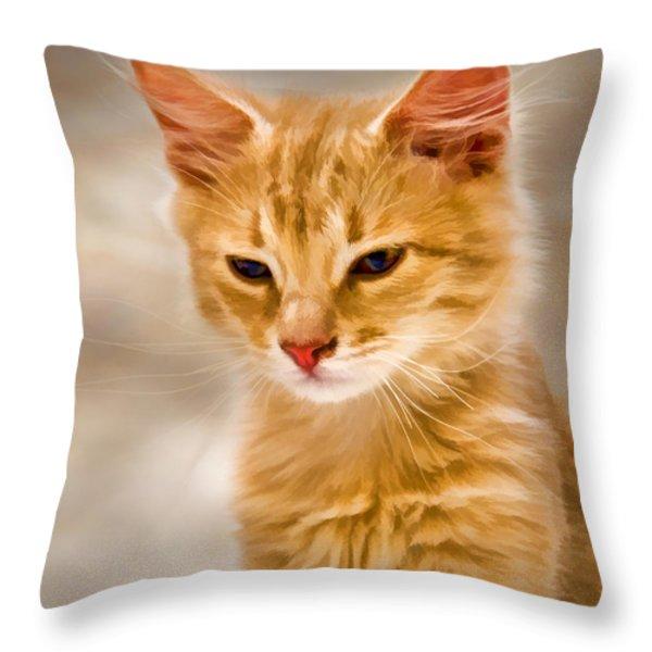 Blondie Throw Pillow by Steven Richardson